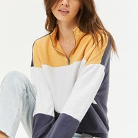 LA Hearts Colorblocked Half Zip Sweatshirt at PacSun.com