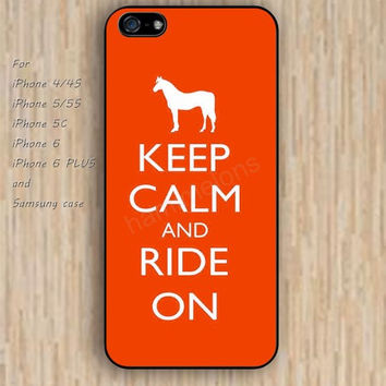 iPhone 6 case red horse keep calm iphone case,ipod case,samsung galaxy case available plastic rubber case waterproof B102