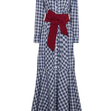 Johanna Ortiz Under New Mexico Skies Frill Gingham Maxi Dress - Farfetch
