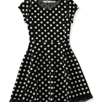 PS from Aero  Kids' Jacquard Dot Skater Dress