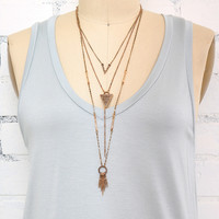 Spiritguide Style Tribe Necklace - Gold