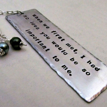 Personalized Quote Bookmark Hand Stamped by FiredUpLadiesHammer