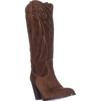 FRYE Ilana Pull On Western Boots, Wood, 10 US