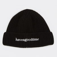 Have A Good Time Side Logo Watch Beanie - Black