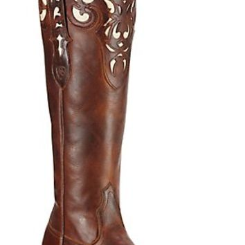 Ariat® Hacienda™ Women's Vintage Caramel Tall Top Snip Toe Western Boots
