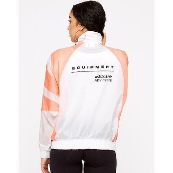 """Adidas"" New Popular Women Men Casual White/Pink Color Matching Breathable Zip Cardigan Jacket Coat Windbreaker Sweatshirt I-BL-YD"