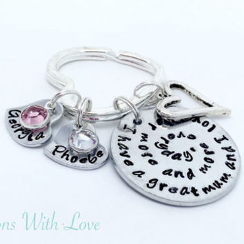 Hand stamped personalised mum keyring keepsake bag charm