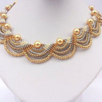 Free shipping Macramya  micromacrame necklace