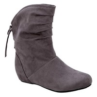 Women's Toby Short Scrunch Boot - Gray- Route 66-Shoes-Womens-Boots
