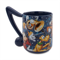 disney parks 2016 mickey and friends musical note ceramic coffee mug new