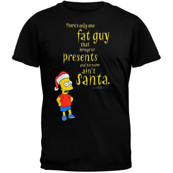 Simpsons - Fat Guy Santa T-Shirt