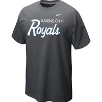 Nike Men's Kansas City Royals Slidepiece Tri-Blend Charcoal T-Shirt - Dick's Sporting Goods