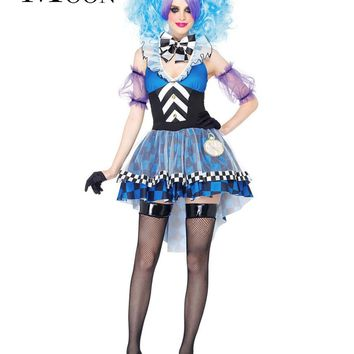 MOONIGHT New Alice Crazy Hat Game Costume Halloween Party Little Magic Fairy For Halloween Costume