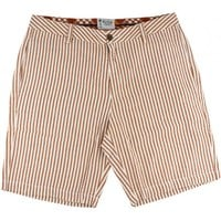Seersucker Walking Shorts in Burnt Orange by Olde School Brand