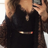 My One and Only Lace Romper - Black