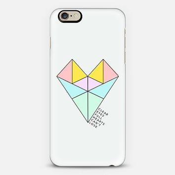 CLEAR EYES FULL HEARTS CAN'T LOSE iPhone 6 case by Katie Wohl | Casetify