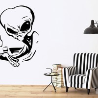 Vinyl Decal Alien UFO Space Fantasy Drinking Wall Stickers Unique Gift (ig1778)