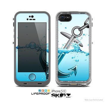 The Anchor Splashing Skin for the Apple iPhone 5c LifeProof Case