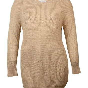 Bar III Women's Long Sleeve Shaker-knit Sweater