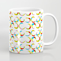 Multicolor moons-abstraction,abstract,geometric,geometrical,pattern,circle,sphere Coffee Mug by oldking