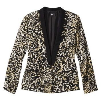 Mossimo® Women's Tuxedo Jacket -Animal Print