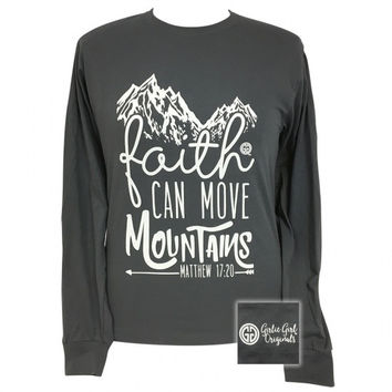 Girlie Girl Preppy Faith Mountains Long Sleeve T-Shirt