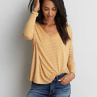 AEO Soft & Sexy Drop Shoulder T-Shirt, Mustard
