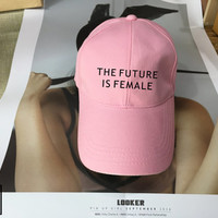 The Future Is Female Black Pink White - Baseball Cap, Tumblr hat , Dad Hat Dad Cap Baseball Hat Baseball Cap , Low-Profile Baseball Cap Hat