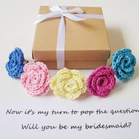 Matron of honor gift Will you be my Bridesmaid Maid of honor box Flower girl invitation Bridesmaid proposal Bridal party proposal ideas