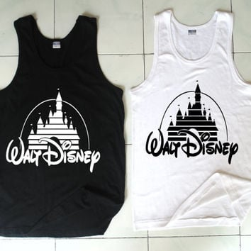 Walt Disney Tank, Pokemon Gengar Clothing, Black and White Tank, Mens Tank, Womens Tank, Ladies Tank, Screen Print