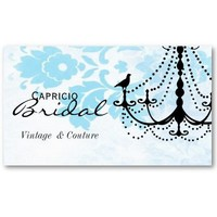 Damask Chandelier Business Card from Zazzle.com