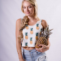"""Do You Like Pina Coladas?"" Crop Tank"