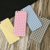 Simple style colour grid phone case for iphone 5 5s SE 6 6s 6plus 6s plus + Nice gift box!