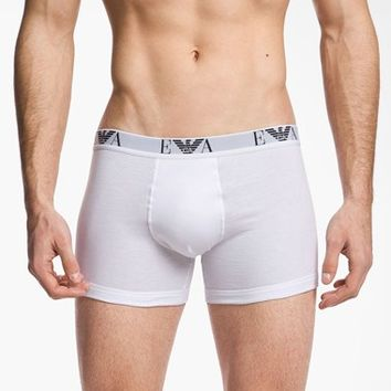 Men's Emporio Armani Cotton Boxer Briefs (3-Pack)