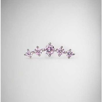 Pink Branch Cartilage Ring - 18 Gauge - Spencer's