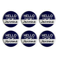 Jerome Hello My Name Is Plastic Resin Button Set of 6