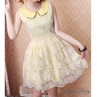 Floral Lace Organza Bubble Dress SP140584