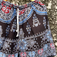 Unisex Shorts Boho Style Hippie Azte Vegan Festival Bohemian Hipster Beach Clothing Summer Spring Fashion Gift for Men Women Burning man