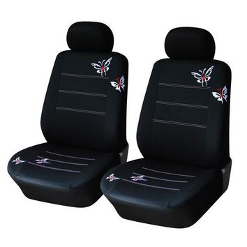Universal Fit Most Butterfly Embroidered Car Seat Covers