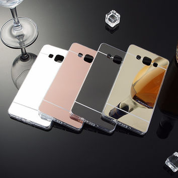 Plating Mirror Case Soft TPU Back Cover For Samsung Galaxy A3 A5 A7 2016 J3 J5 J7 S4 S5 S6 S7 Edge Plus Grand Prime Phone Cases