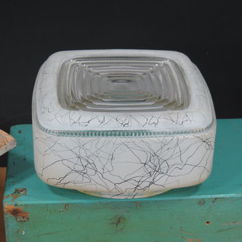 Mid Century Square 1950s Ceiling Light Globe Cover Modern Atomic Pattern