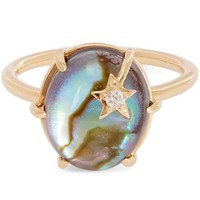 Gold Mini Mother-of-Pearl Galaxy Star Ring
