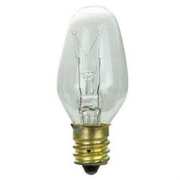 Sunlite 01620-SU 10 Watt C7 Night Light, Candelabra Base, Clear Bulb