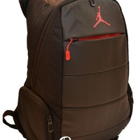 "Nike Air Jordan Backpack 15"" Laptop Post Game Black Red Bag School Men Women"