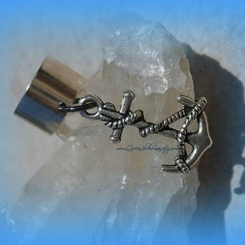 An Anchor Ear Cuff, Nautical Jewelry, Body Jewelry, Beach Wear, Direct Checkout, Ready to Ship