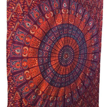 Hippie Mandala Tapestry wall hanging boho bohemian twin bedding throw bedspread ethnic home decor art