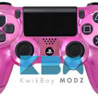 Pink Chrome Dualshock 4 PS4 Controller