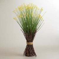 Yellow Spring Grass Stack