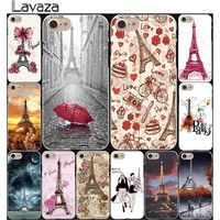 Lavaza France Paris the Eiffel Tower fashion Hard Coque Shell Phone Case for Apple iPhone 8 7 6 6S Plus 5 5S SE 5C 4S X 10 Cove