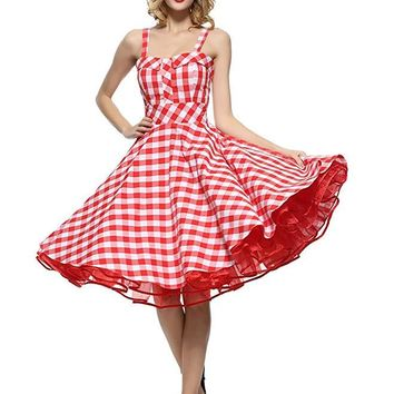 Picnic Dress - 1950's Full Circle Dress